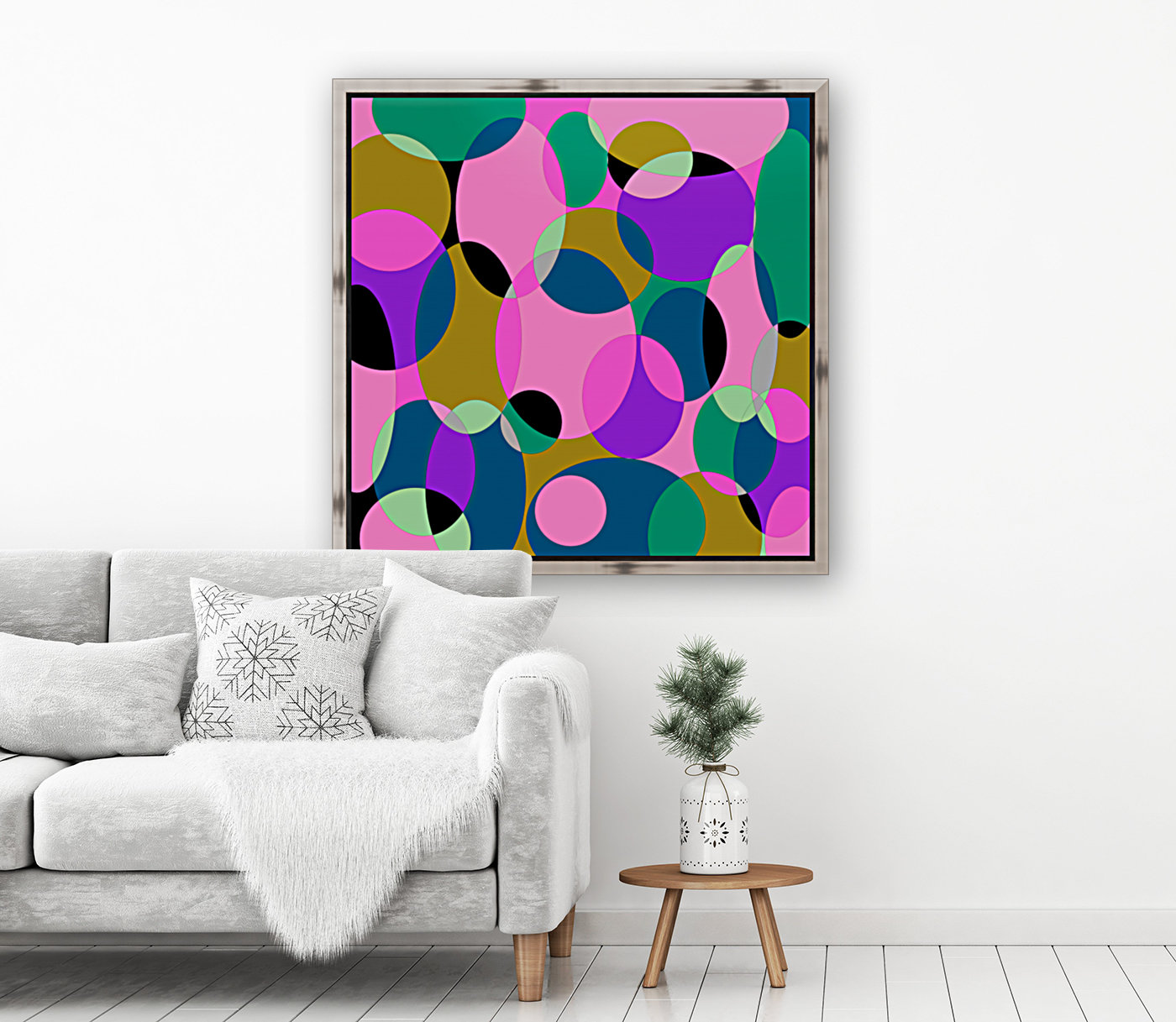 This is a beautiful design with great color, shape, line, texture, space and value.  (50)  Art