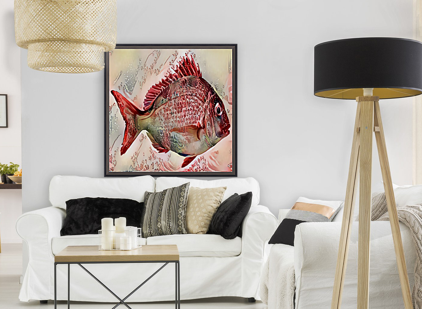 Ocean Art with Floating Frame