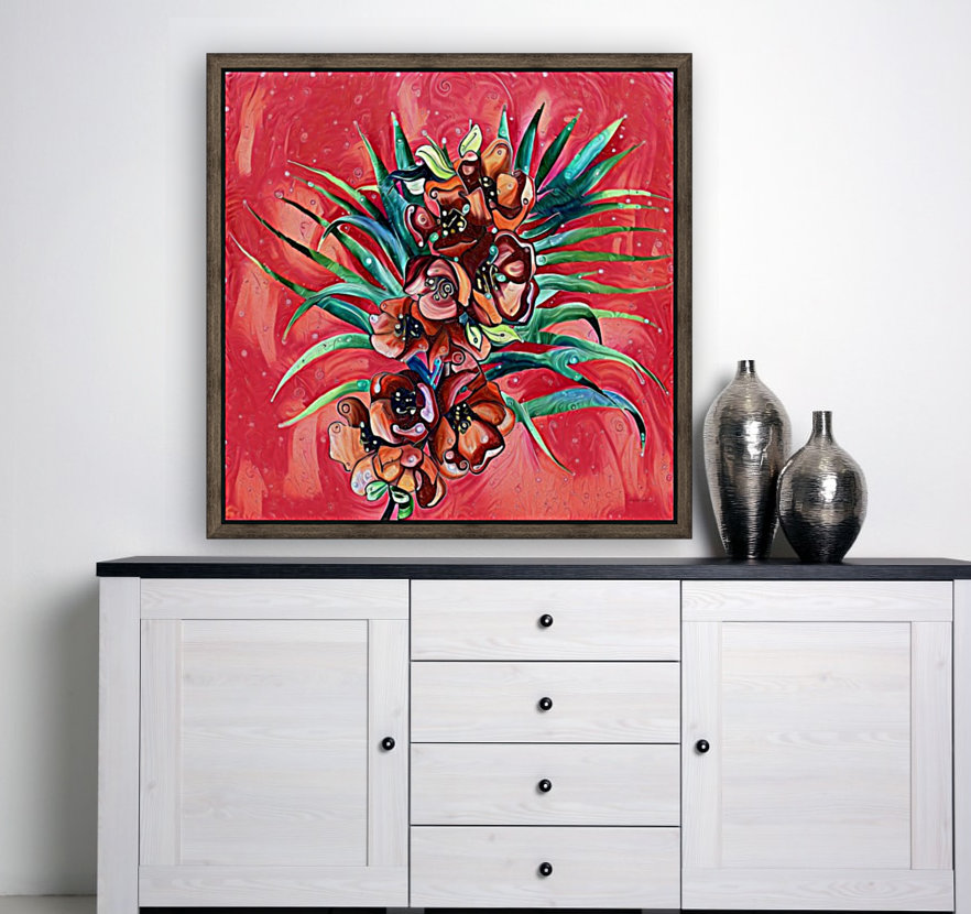 Vibrant Colors Tropical Floral  Art