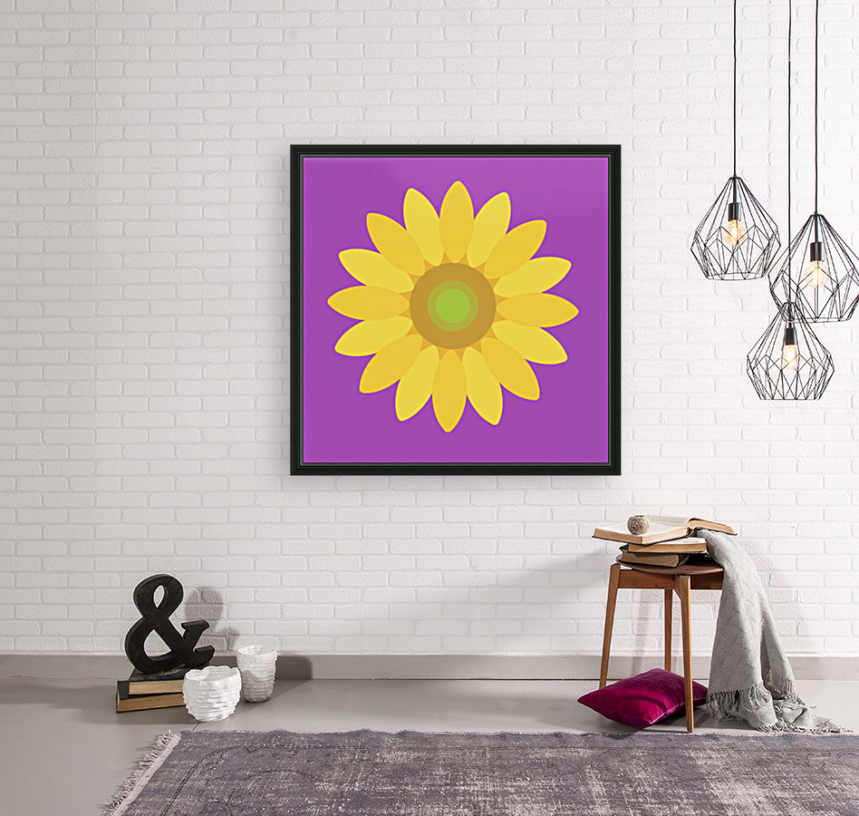 Sunflower (11) with Floating Frame