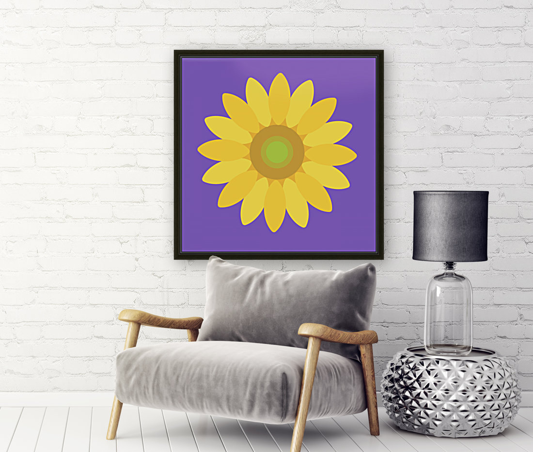 Sunflower (12)_1559875861.1864 with Floating Frame
