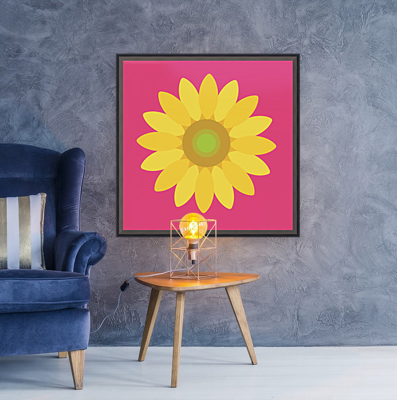 Sunflower (10)_1559876168.0048 with Floating Frame