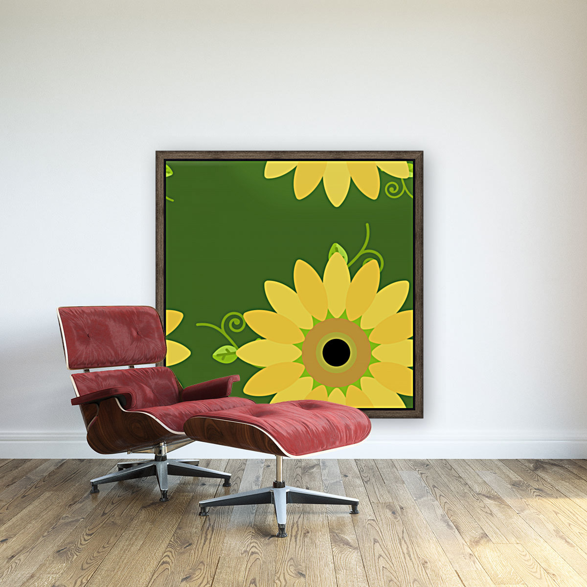 Sunflower (59)_1559876376.6225 with Floating Frame