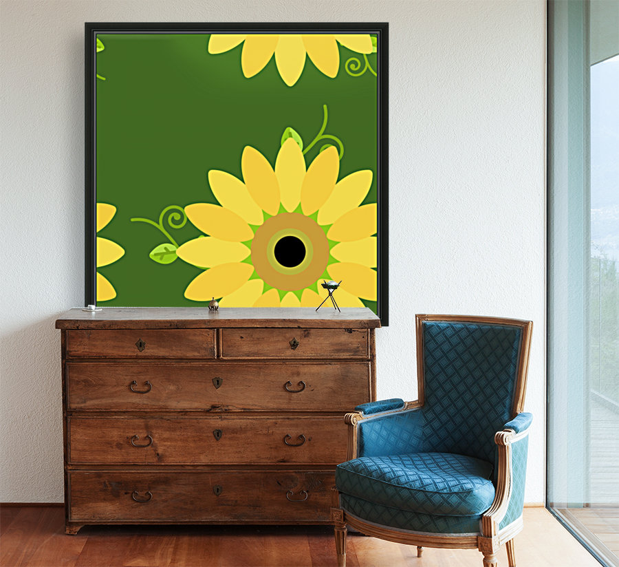 Sunflower (59)_1559876248.3591 with Floating Frame