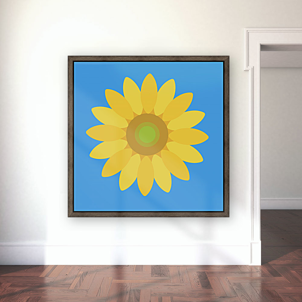 Sunflower (13)_1559876482.7514 with Floating Frame