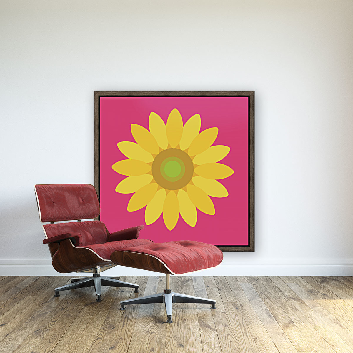 Sunflower (10)_1559876455.9347 with Floating Frame