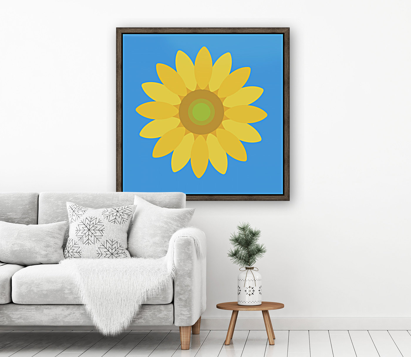 Sunflower (13)_1559876665.7609 with Floating Frame