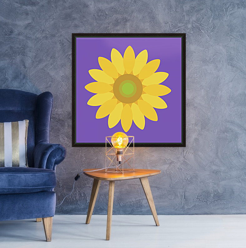 Sunflower (12)_1559876665.8775 with Floating Frame