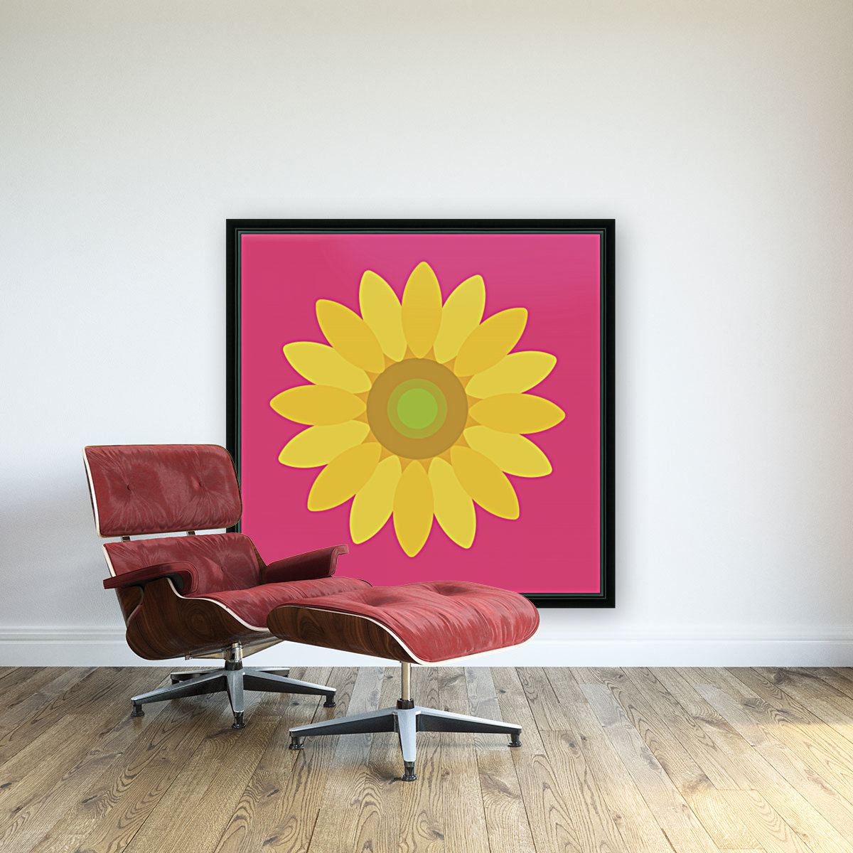 Sunflower (10)_1559876665.7513 with Floating Frame