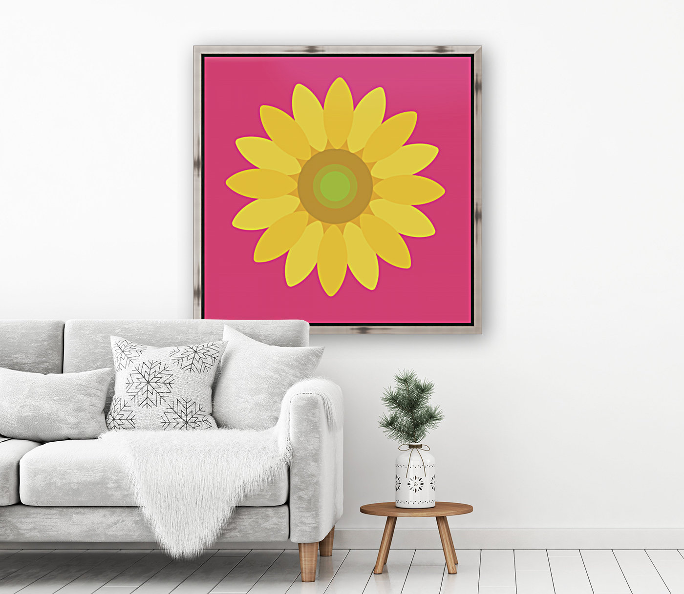 Sunflower (10)_1559876729.1568 with Floating Frame