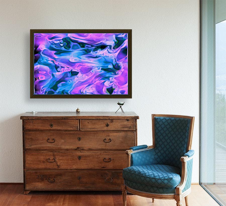 Purple Ice - purple blue abstract swirl wall art  Art