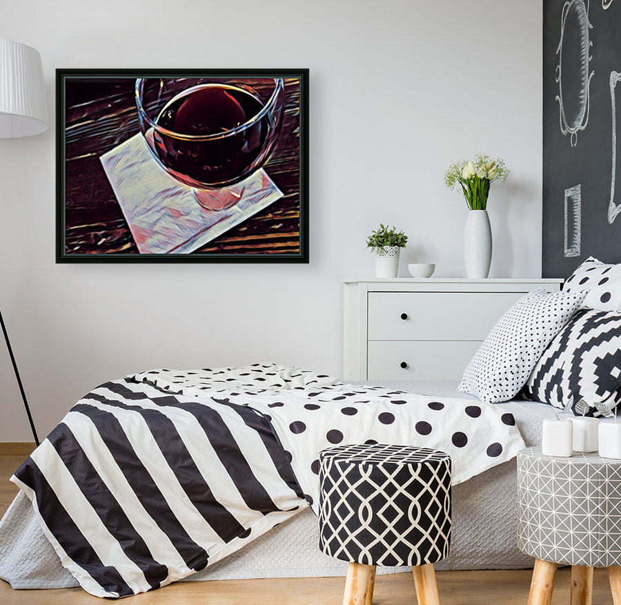Wine Art with Floating Frame