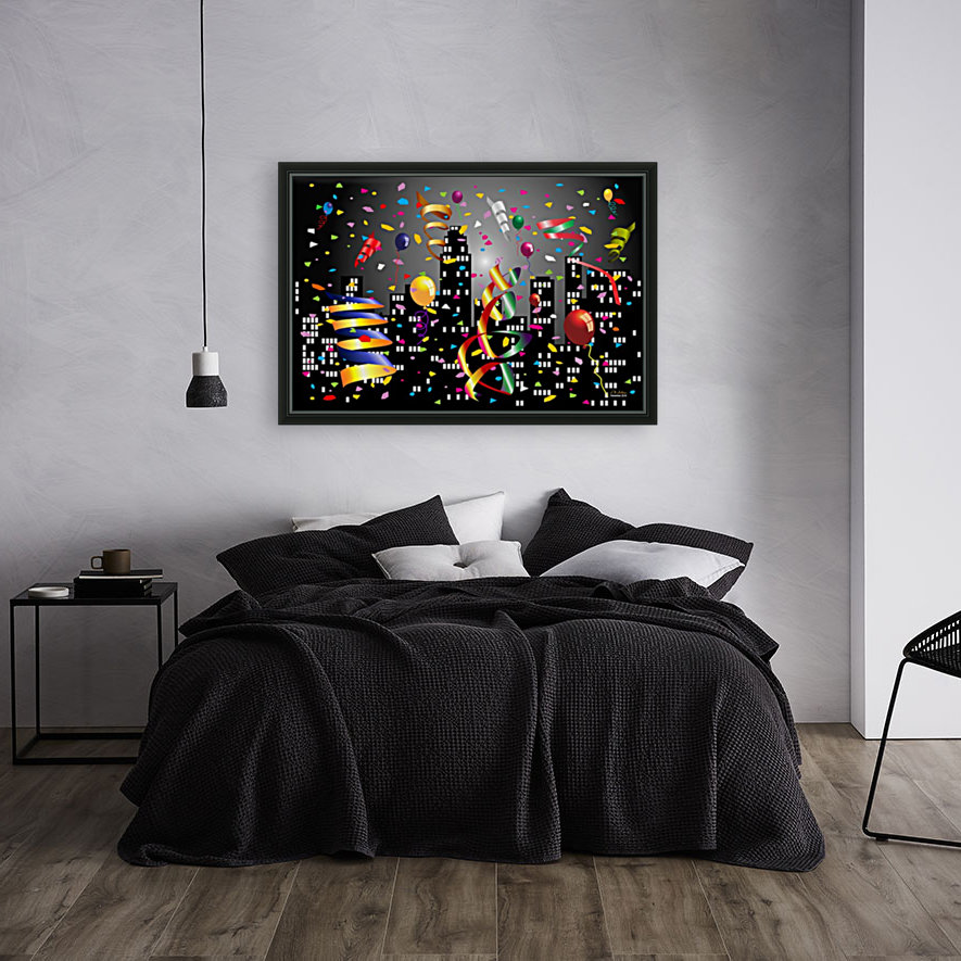 1-Nighttime Celebration in the Big City  Art