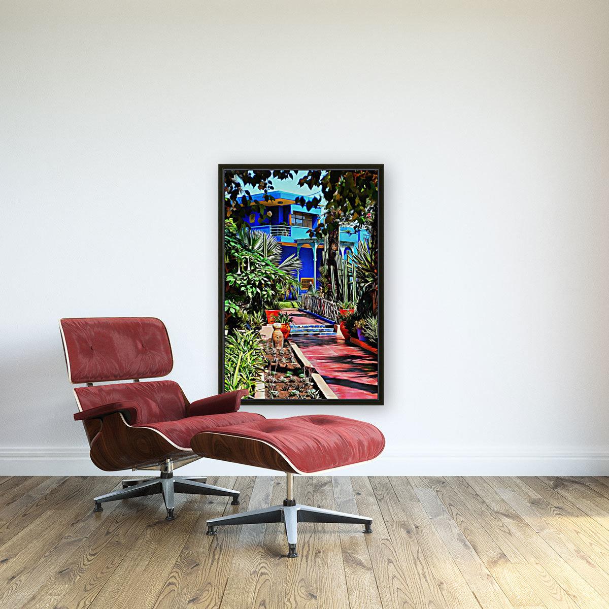 Approach To Cubist Villa Jardin Majorelle  Art