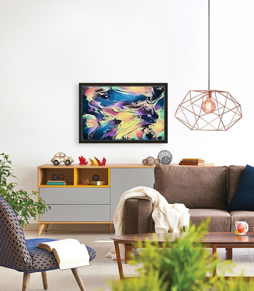 Smooth Brandy - multicolor abstract swirl wall art  Art