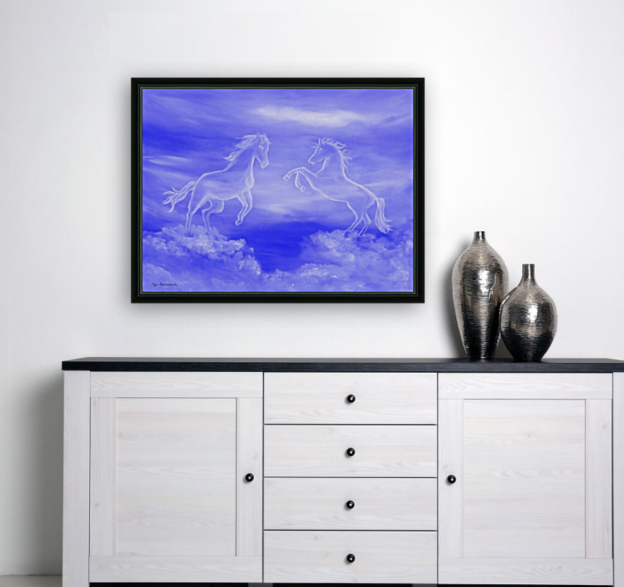 Horse Spirit Clouds with Floating Frame