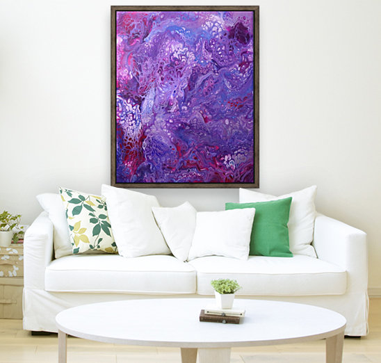 Purple sea of bliss with Floating Frame