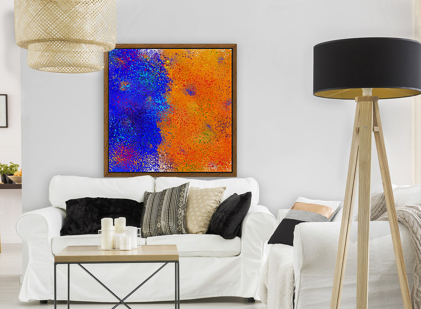 Seisnahorra - orange and blue balanced freedom  Art