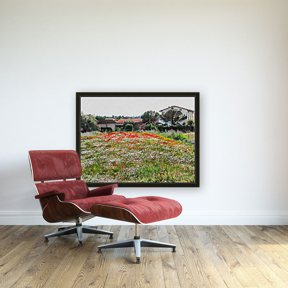 Old Farm House With Poppies  Art
