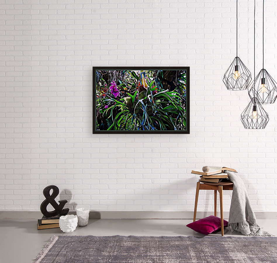 Stag Horn And Orchid Fantasy Garden  Art