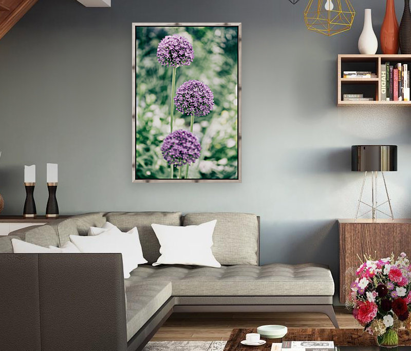 Three Purple Flowers  Art