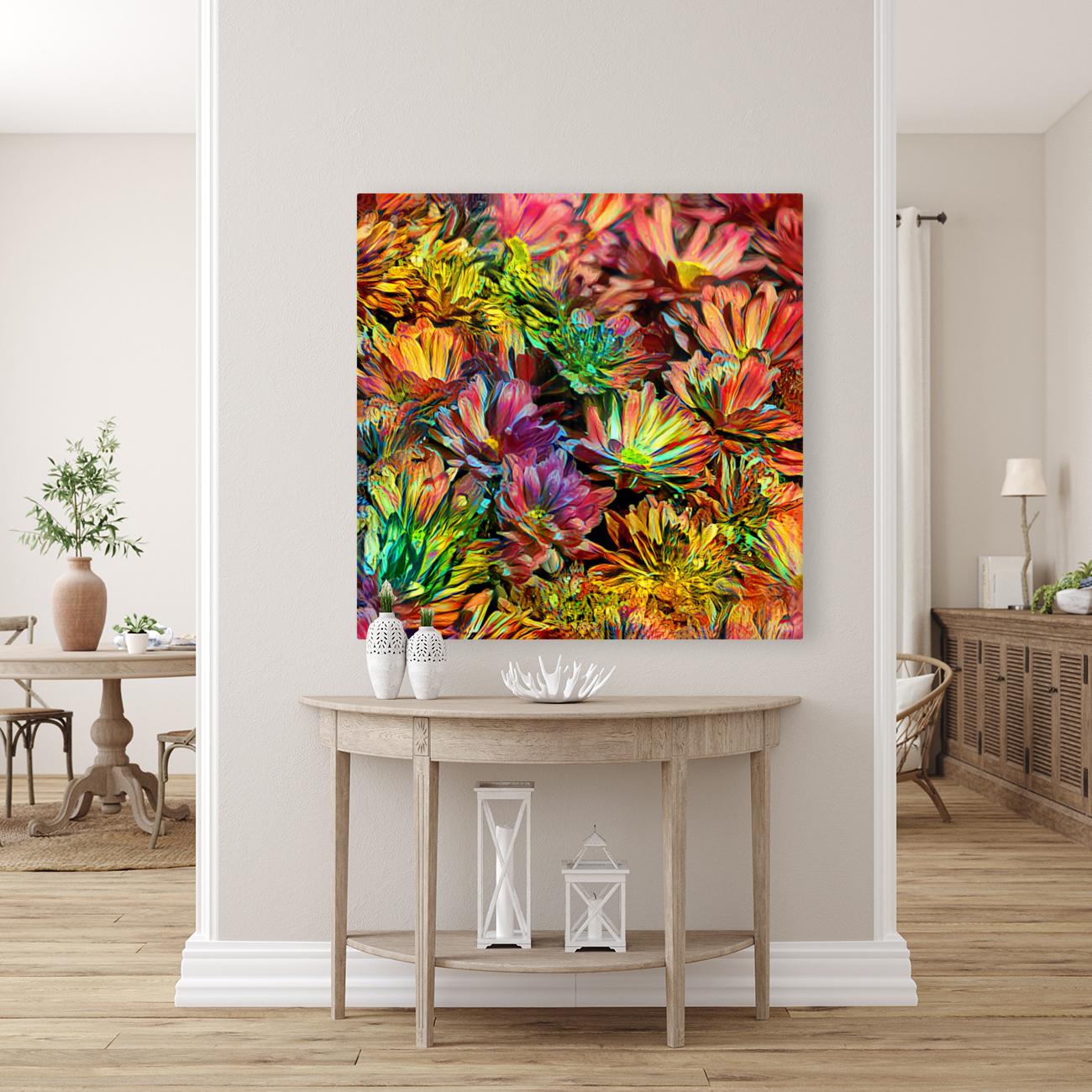Rainbow Floral  Art