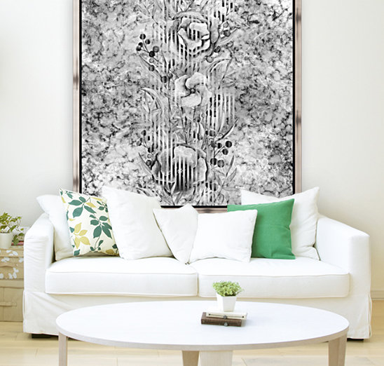 Shades of grey floral abstract   Art