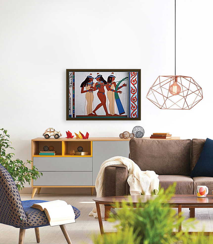egypt fresco mural decoration with Floating Frame