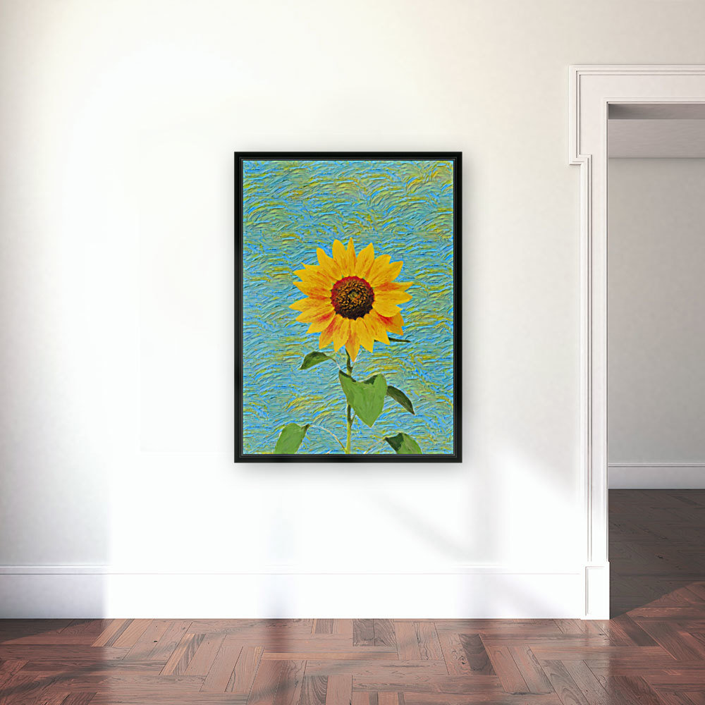 Sunflower. with Floating Frame