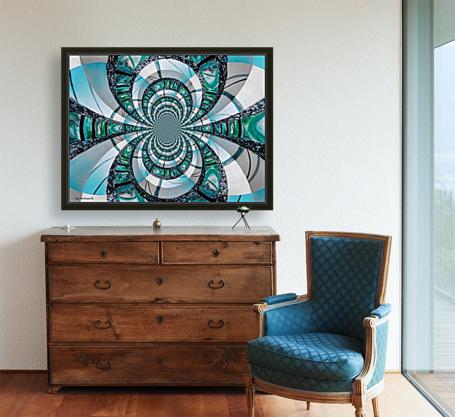 Infinity Teal with Floating Frame