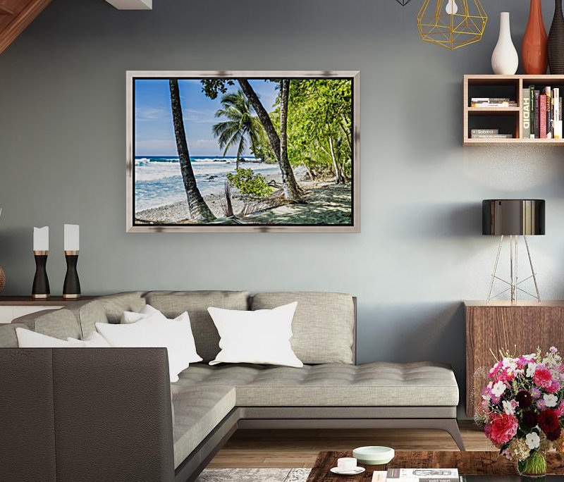 Costa rican beach Osa Peninsula Costa Rica with Floating Frame