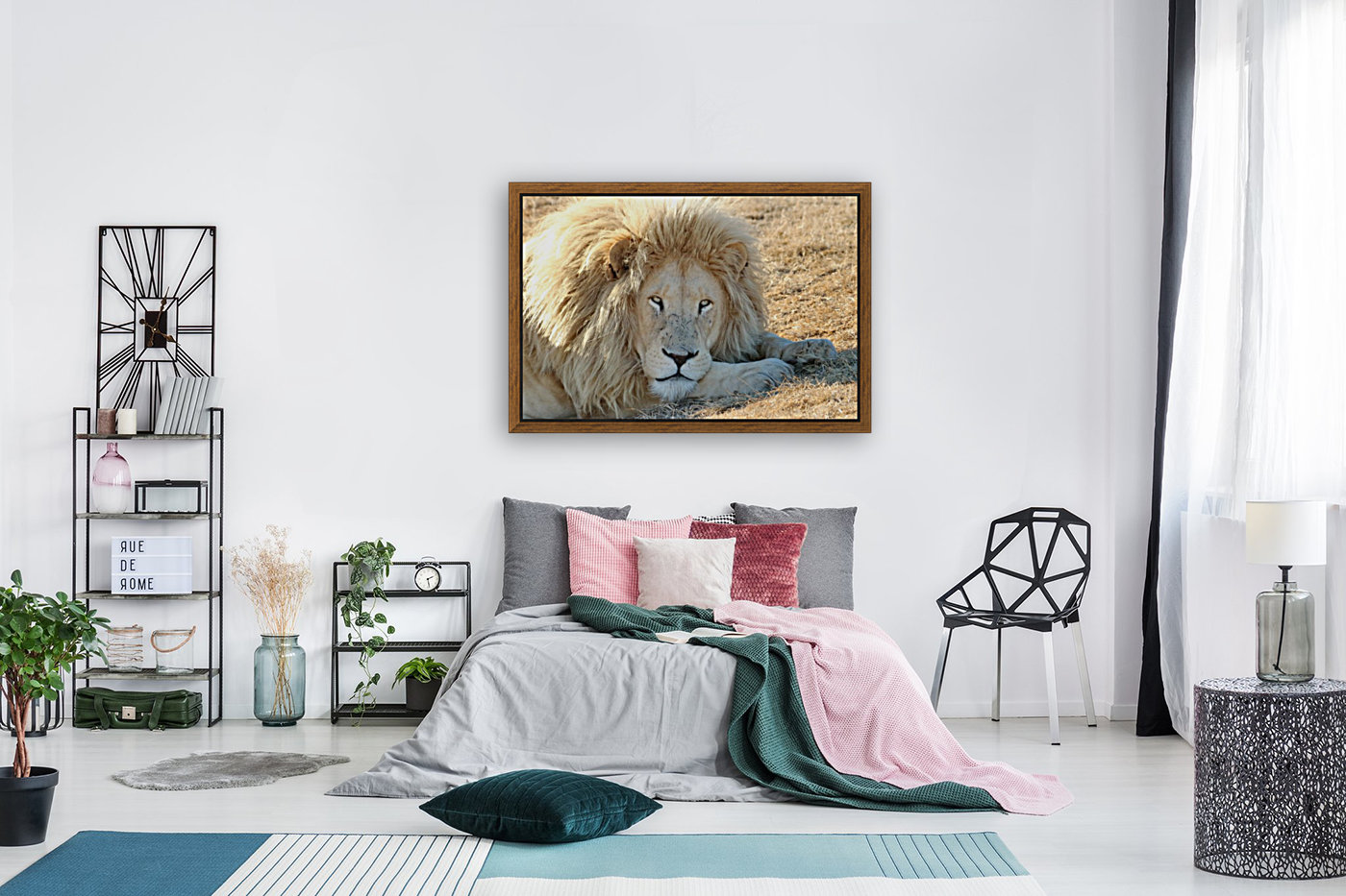 White Lion Portrait 913  Art