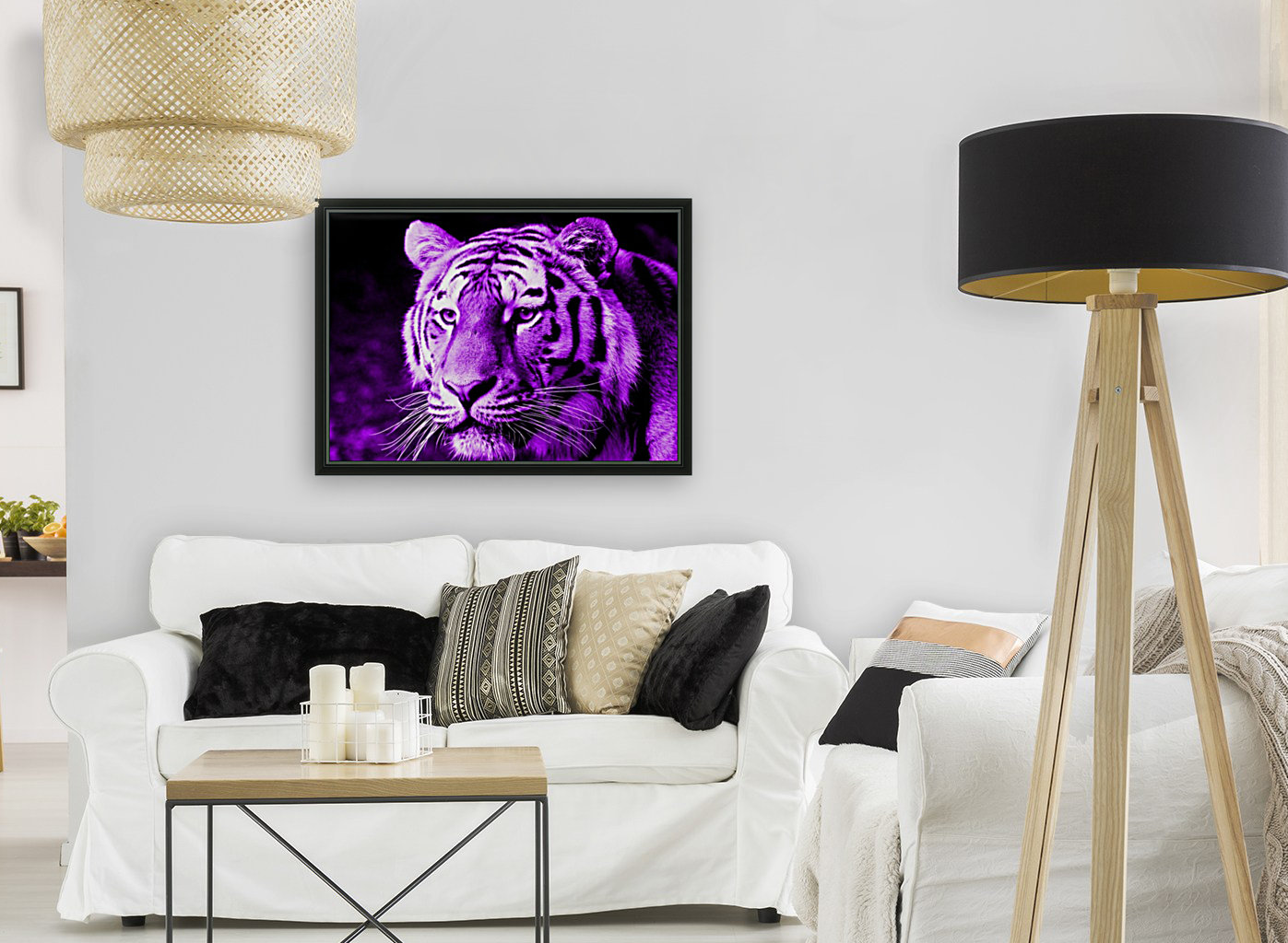 Tiger pop purple with Floating Frame