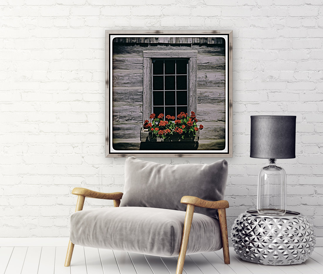 Window of Flowers with Floating Frame