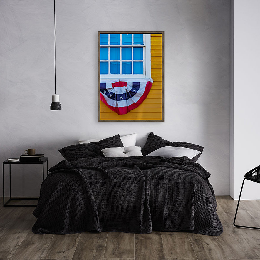 Patriotic Colonial with Floating Frame