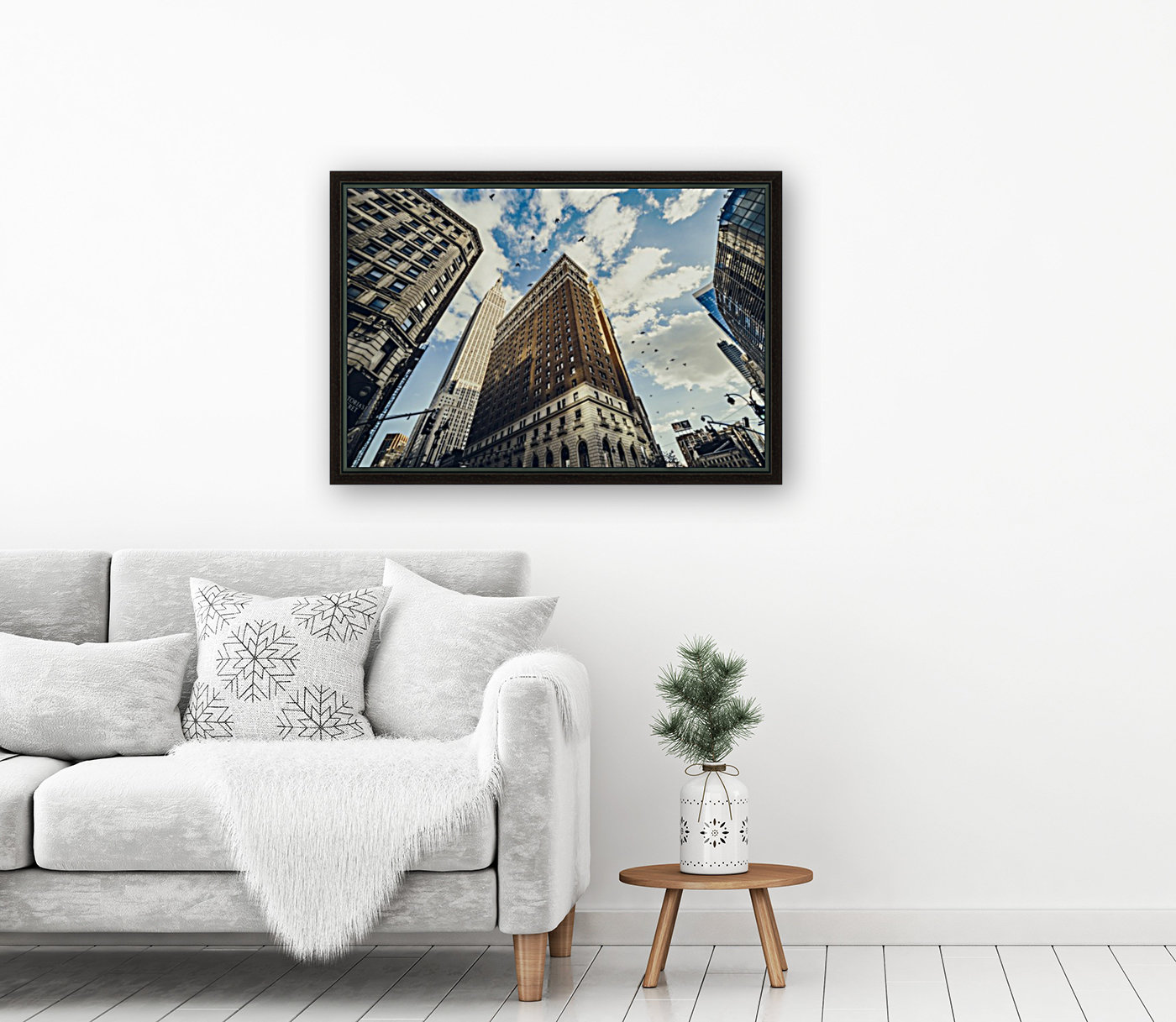 New York Sky with Floating Frame
