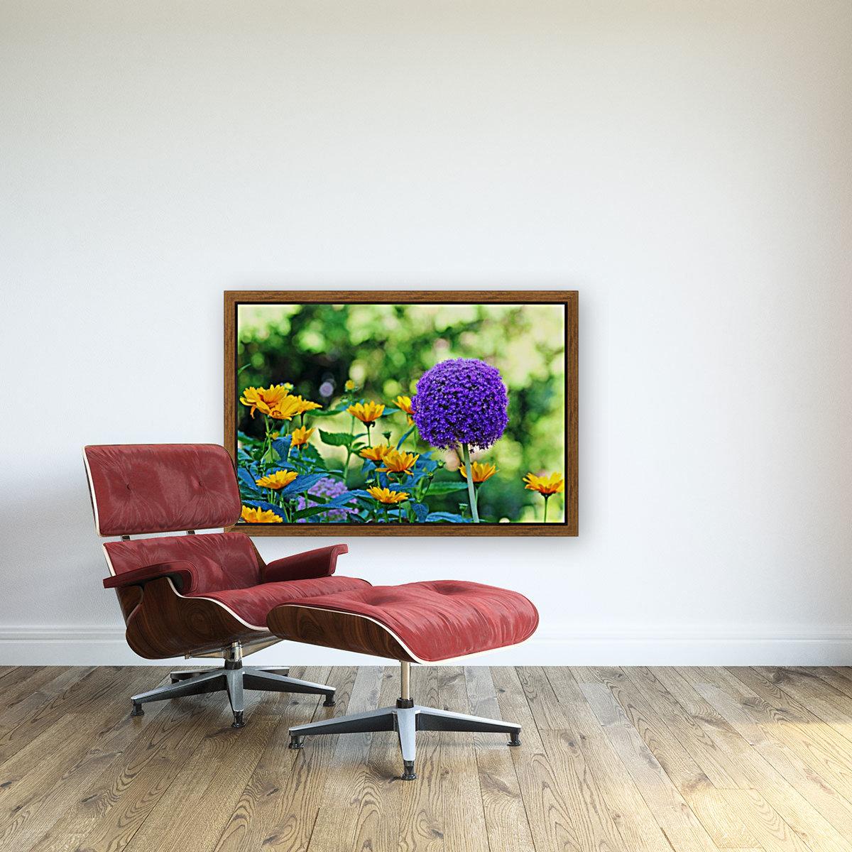 Allium And Wild Sunflowers  Art