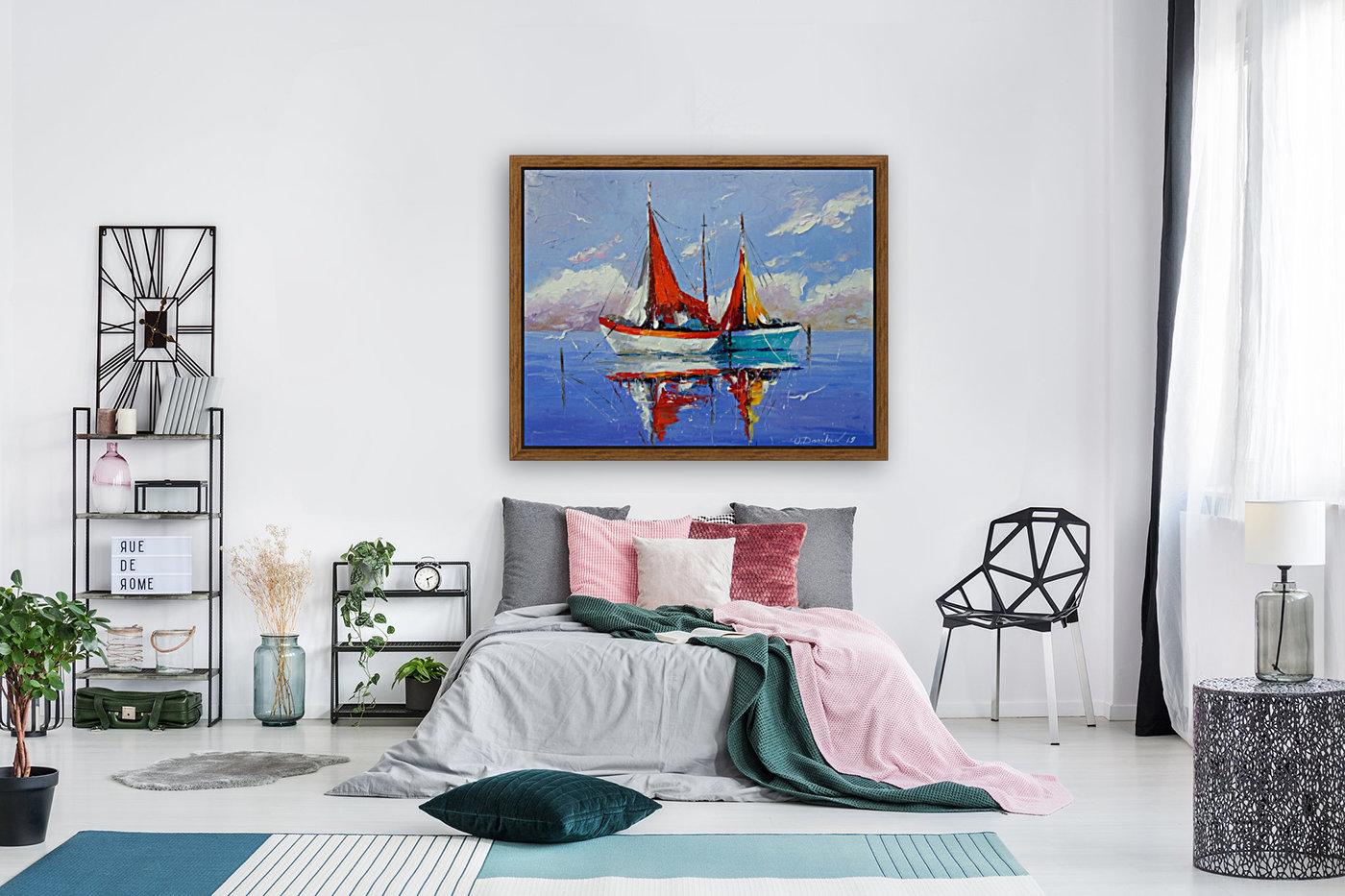 Sailboats in the sea  Art