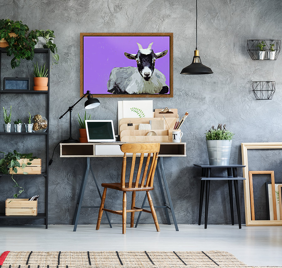 Goat popart purple  Art