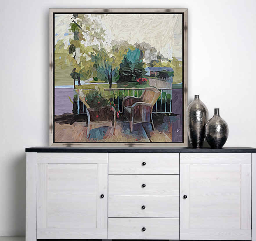 Suburban Springtime with Floating Frame