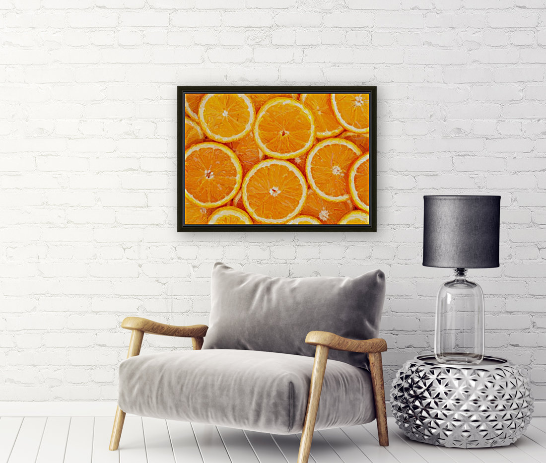 orange with Floating Frame