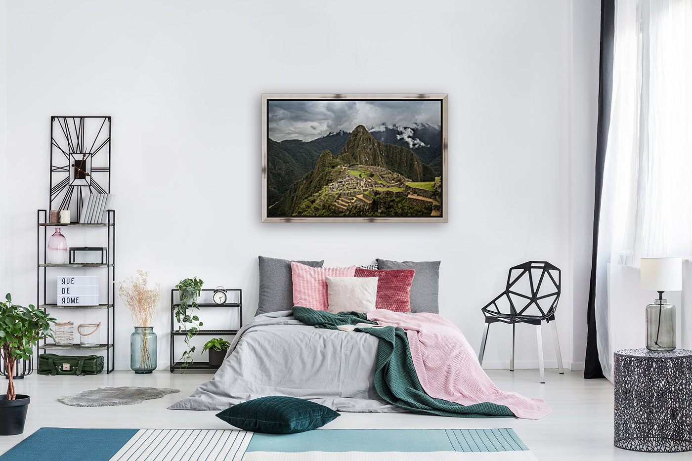 Machu Picchu with Floating Frame