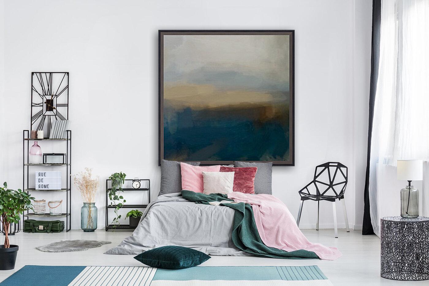 Lapis Blue Landscape  Art