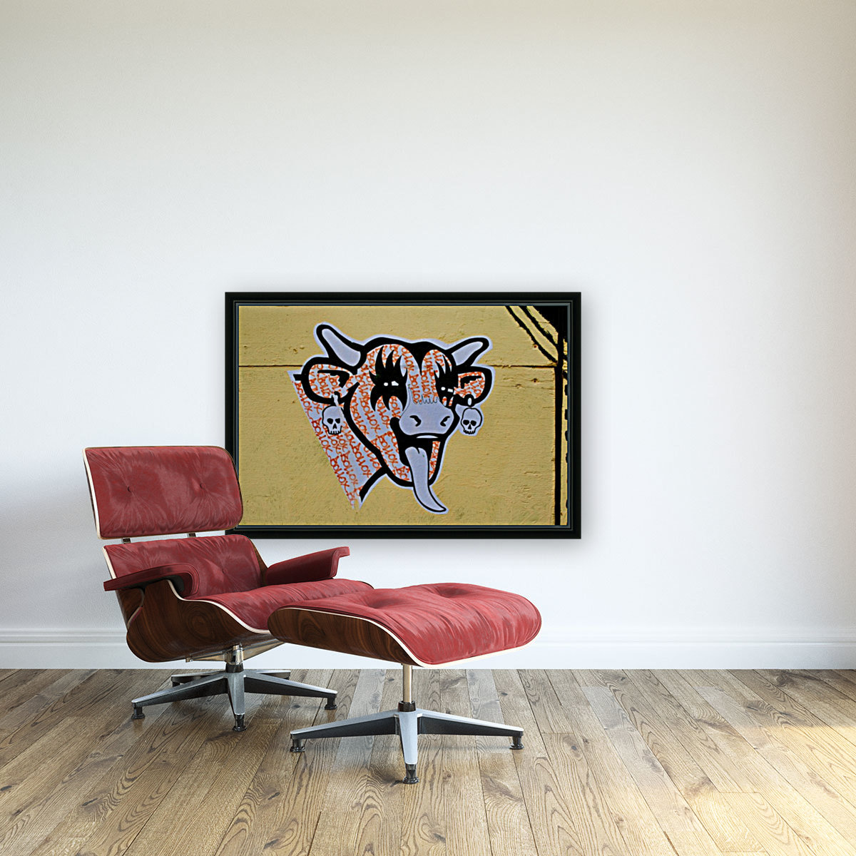 Demon Laughing Cow  Art