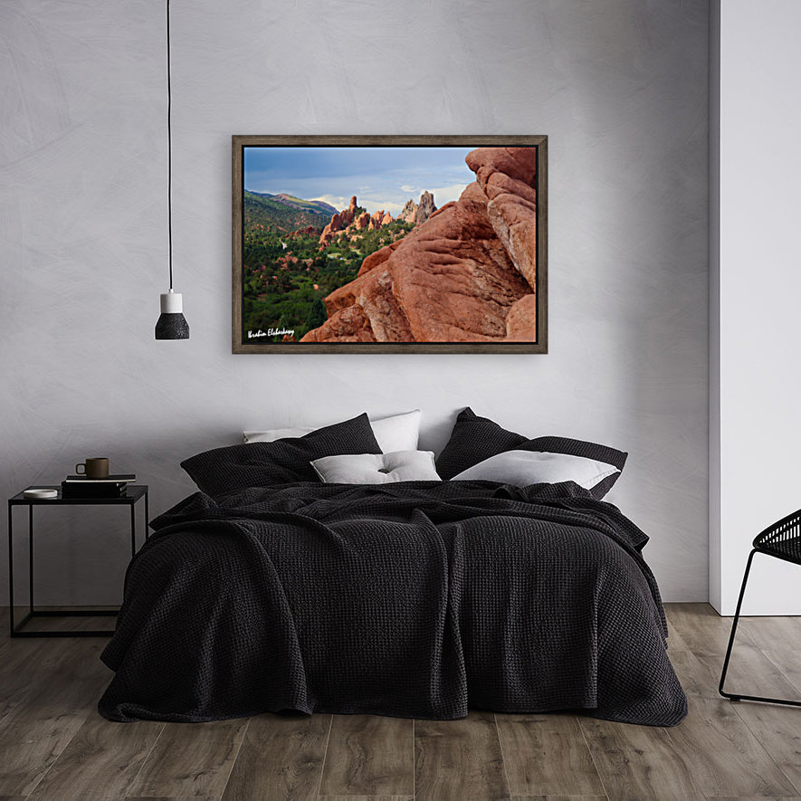 Beautiful Red Rock structures in the Desert  Art