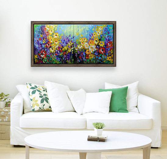 Bright melody  with Floating Frame