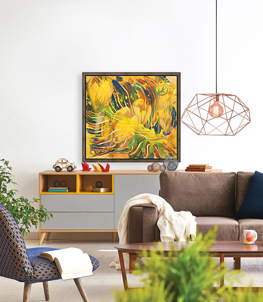 yellow flowers abstraction  Art