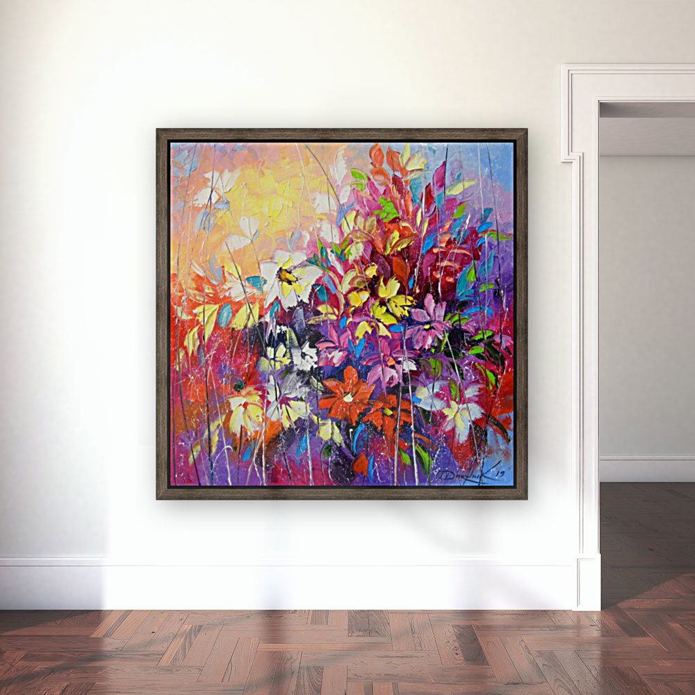 Dance of flowers with Floating Frame
