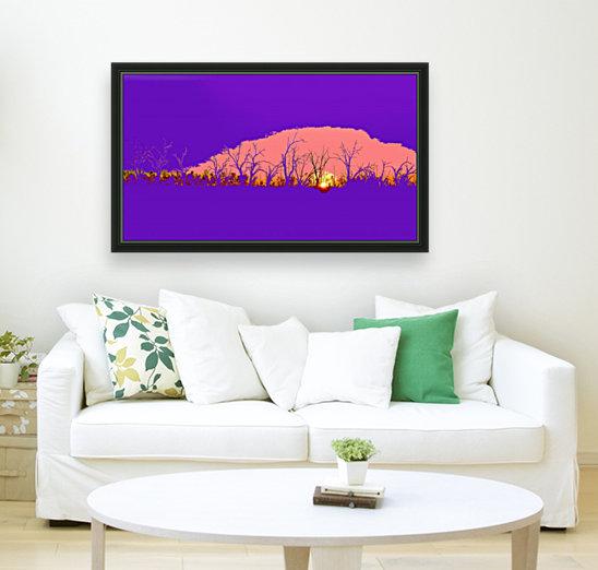 Lake Sunset - Purple  Art