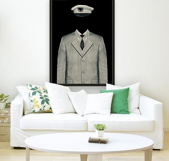 Surreal Officer Man Portrait  Art